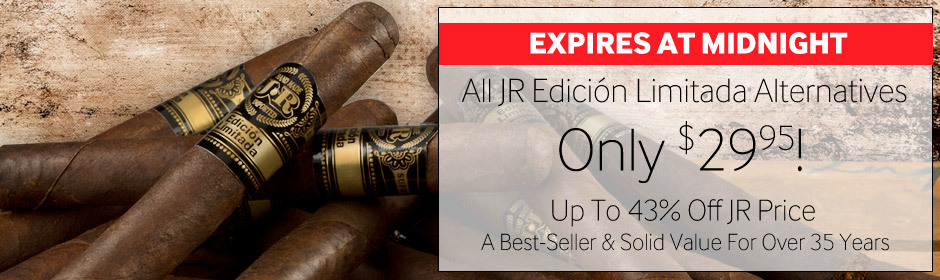 Expires at midnight: Cuban-Style JR Alternatives At Our Lowest Price Ever!