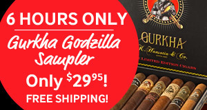 gurkha godzilla cigar sampler only $29.95