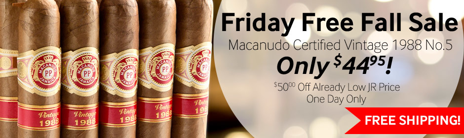 macanudo certified vintage cigars for only $44.95
