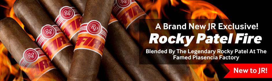 rocky patel fire premium cigars are now available at JR cigar