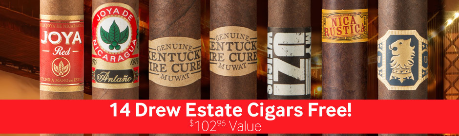 get 14 drew estate cigars free