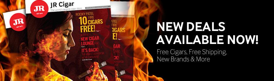 new cigar deals are avaialble at jr cigar. free cigars, free shipping, new cigar brands