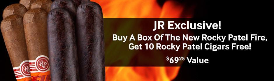 get 10 free rocky patel fire premium cigars