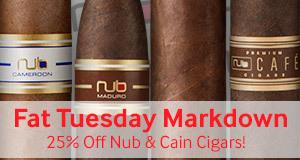 Fat Tuesday Sale! 25% off Nub & Cain!