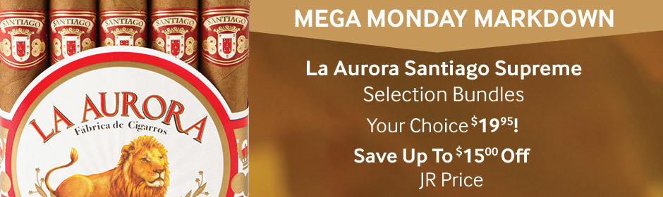 Monday Markdown! La Aurora Santiago Supreme Selection bundles only $19.95!
