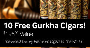 10 gurkha cigars free with select boxes of Gurkha cigars