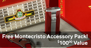 free montecristo accessory kit with select boxes of montecristo cigars