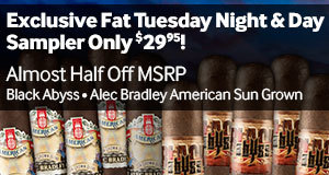 Exclusive Fat Tuesday Night & Day Sampler only $29.95! Almost half off!