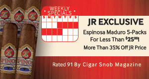 Save More than 35% Off On Exclusive Espinosa Maduro 5-Packs! Just $25.00!