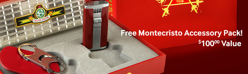 free montecristo accessory pack with montecristo cigars