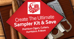 build a sampler at jr cigar and crate the ultimate sampler kit of premium cigars and cigar accessories