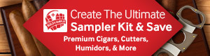 build a sampler at jr cigar and crate the ultimate sampler kit of premium cigars and cigar accessories