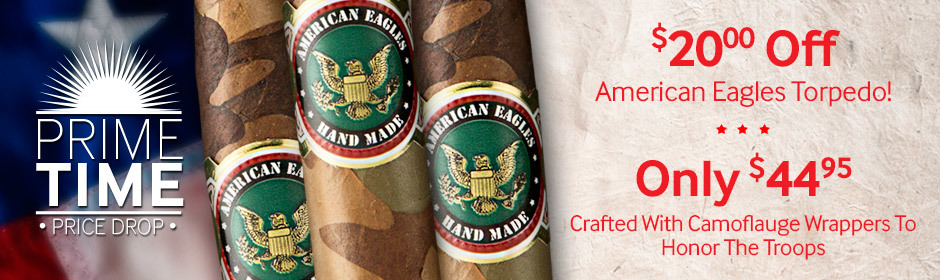 Prime Time Price Drop! $20.00 off American Eagles Torpedo! Only $44.95!