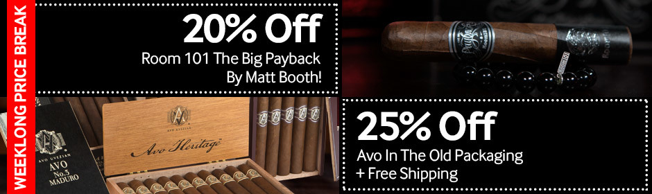 Weeklong Price Break! 20% off Room 101 The Big Payback + 25% off & free shipping on Avo!