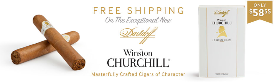 For 5 days only, get free shipping on all Davidoff Winston Churchill Cigars!