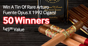 buy a box of arturo fuente cigars and you could win rare opus x cigars