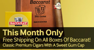 free shipping on baccarat cigars