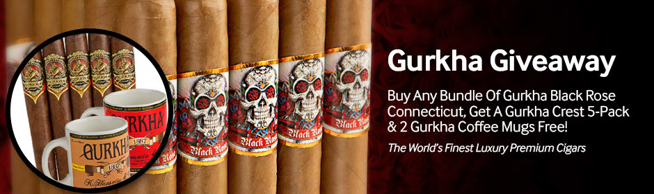 Buy any bundle of Gurkha Black Rose, get a Gurkha Crest Churchill 5-Pack