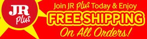 join JR Plus today and enjoy free shipping for an entire year