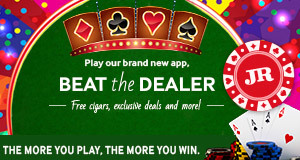 download and  beat the dealer now, the brand new cigar app from JR cigar.