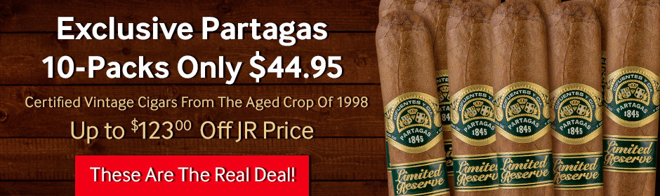 Exclusive Partagas Certified Vintage 10-Packs only $44.95!
