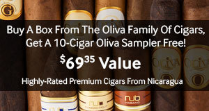 Free 10 Cigar Oliva Sampler with select boxes of Oliva cigars!