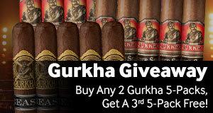 Buy 2 Gurkha 5-Packs, get 1 free!  Least expensive free.