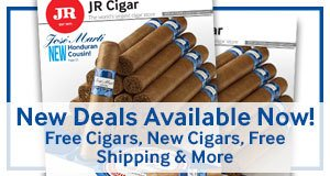 New cigar deals available now! Free cigars, new cigars, free shipping, & more