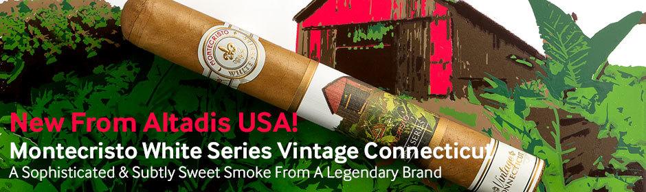 new montecristo white series vintage Connecticut cigars from Altadis USA