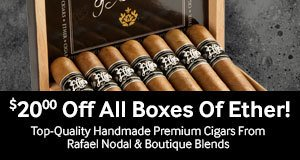 $20 off all boxes of ether