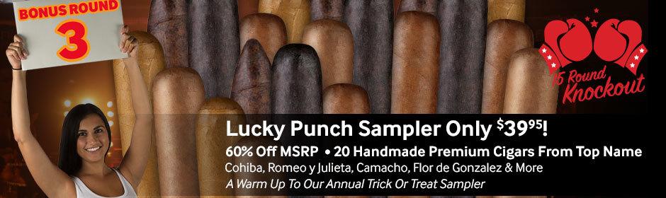 Lucky Punch Sampler of 20 handmade premium cigars only $39.95