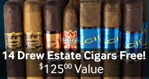 14 Drew Estate Cigars free with Acid cigars and more