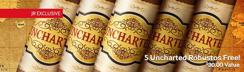 Buy a box of the new uncharted cigars, get 5 uncharted robustos free