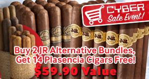Buy 2 of the same JR Alternative Bundles, Get 14 Plasencia Cigars Free! $59.90 Value