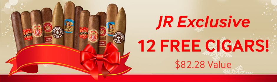get 12 Premium Cigars free with JR exclusive brands
