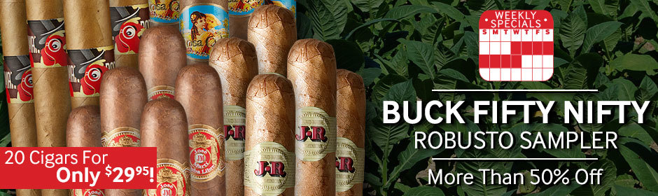Buck Fifty Nifty Robusto Sampler! 20 Cigars For Only $29.95!