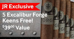 5 free excalibur cigars with the new Excalibur Forge Keens cigars