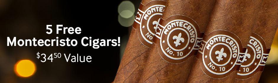 5 free montecristo cigars