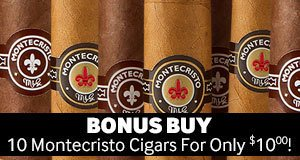 10 Montecristo Cigars For Only $10.00