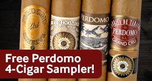 Free Perdom 4-Cigar Sampler with Perdomo cigars