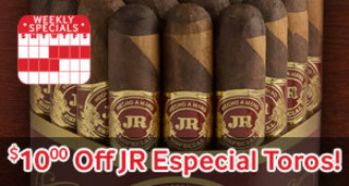 $10.00 Off The New JR Especial Toro! Bundle Of 20 Only $49.95!