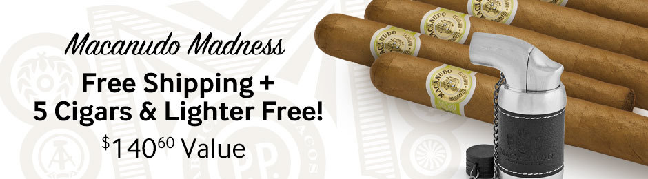 Free Macanudo Cigars, Lighter, & Free Shipping With Macanudo Cigars