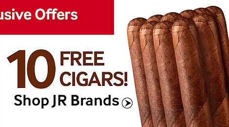 10 Free Robusto Cigars with JR exclusive brands