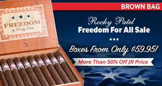 Rocky Patel's Freedom For All Sale! Priced From Only $59.95 to $69.95! More Than 50% Off JR Price