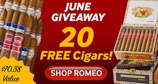 20 cigars free with select romeo y julieta cigars
