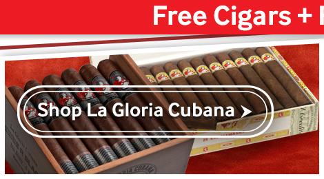 5 Free La Gloria Cubana Cigars + Free Shipping
