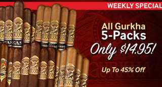 All Gurkha 5-Packs Only $14.95 Or Less! Up To 45% Off JR Price