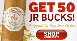 Get $50 JR Bucks With Montecristo Cigars