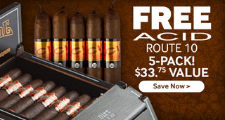 5 free acid cigars with select drew estate cigars