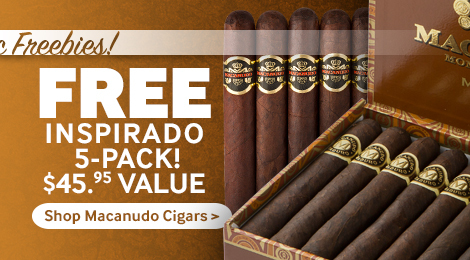 5 free Macanudo cigars with select macanudo boxes